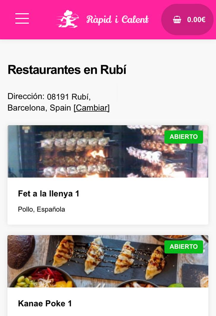 Restaurantes app Ràpid i Calent