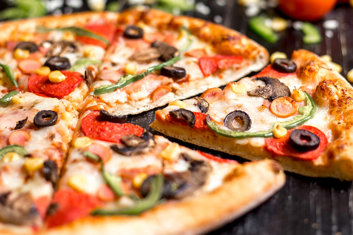 Pizza con Ràpid i Calent